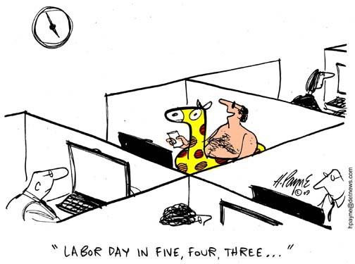 Labor Day Clock