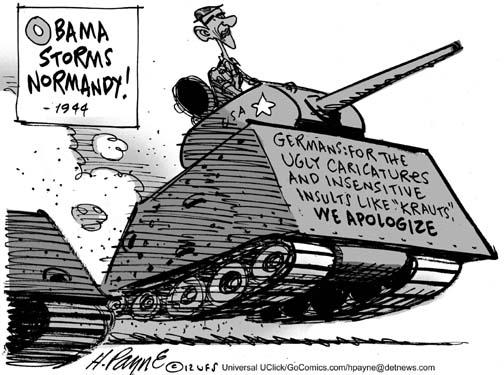 Henry Payne » Editorial Cartoon: Obama Apology WW2