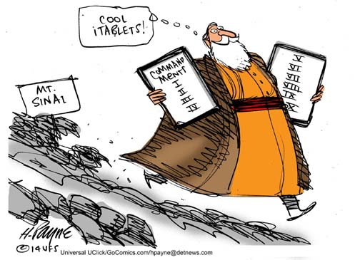 Image result for cartoon moses with tablets