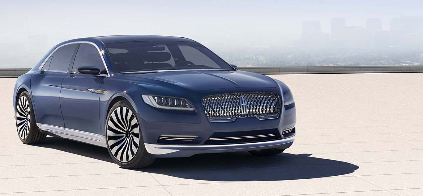 The new face of Lincoln. The flagship, Continental sedan breaks cover. (Lincoln Motor Co. photo)