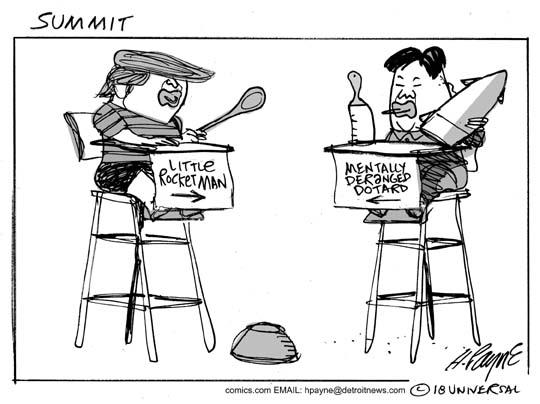 Image result for trump kim summit cartoons