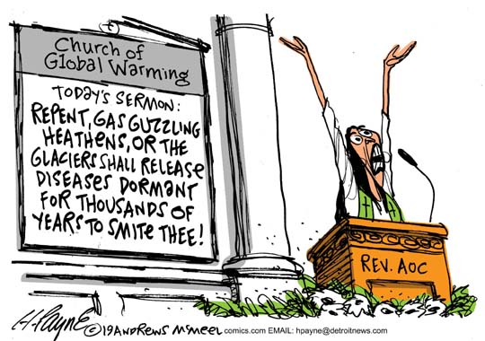 Henry Payne » Cartoon: Cortez and Global Warming Diseases