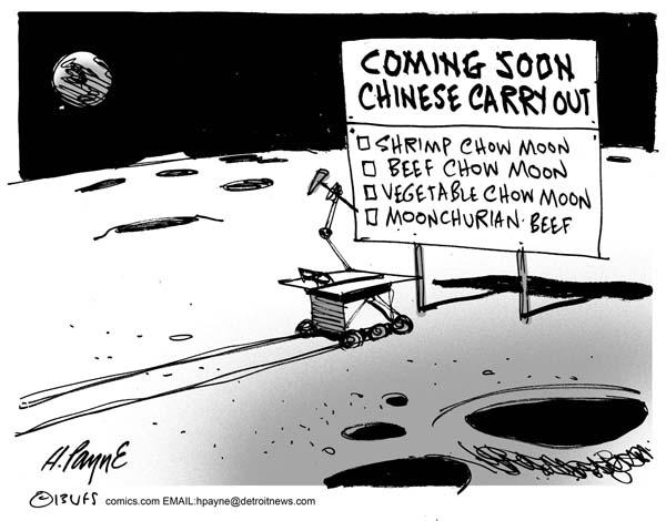 Henry Payne » Cartoon: Chinese Moon Landing